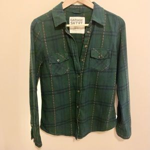 2/$20 Garage Flannel Button-Down Shirt